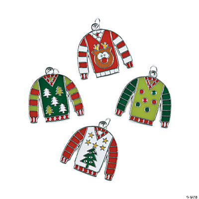 Enamel Ugly Sweater Charms