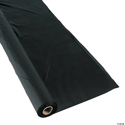 Extra Long Black Tablecloth Roll