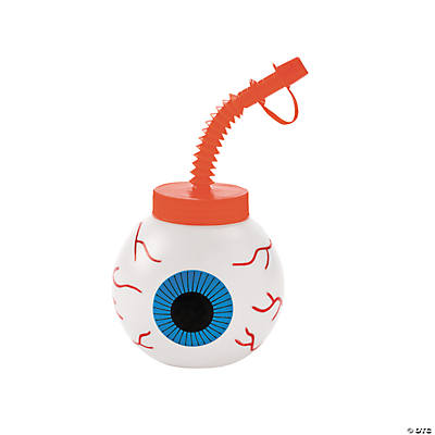 Eyeball Molded Cups with Lids & Straws