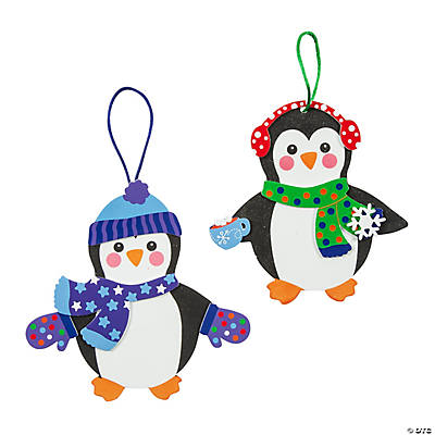 Fabulous Foam Penguin Christmas Ornaments