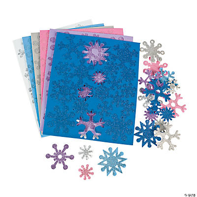Fabulous Foam Self-Adhesive Snowflake Glitter Shapes