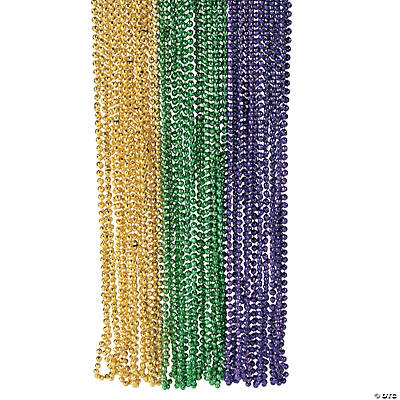 Faceted Mardi Gras Party Beads