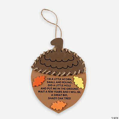 Fall Acorn Ornament with Poem Craft Kit