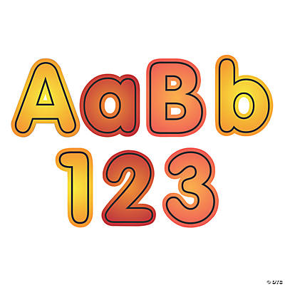 Fall Bulletin Board Letters & Numbers