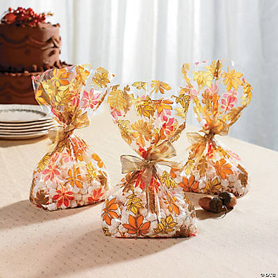 Fall Leaf Cellophane Bags