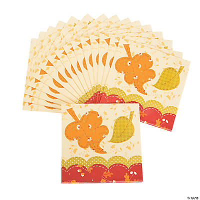 Fall Patchwork Luncheon Napkins