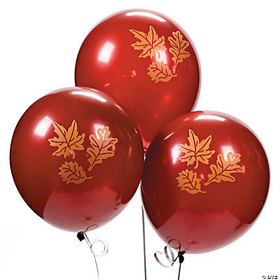 Fall Print Latex Balloons