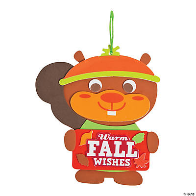 Fall Sweater Squirrel Sign Craft Kit