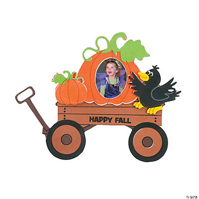 Fall Wagon Picture Frame Magnet Craft Kit