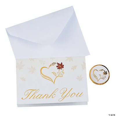 Wedding thank you cards fall wedding thank you cards junglespirit Images