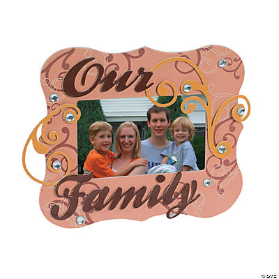 Family Chipboard Frame Craft Kit