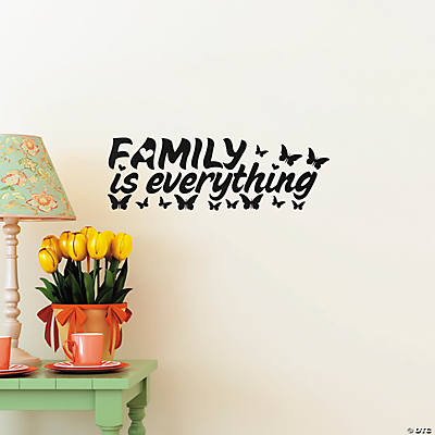 family is everything wall decals. Black Bedroom Furniture Sets. Home Design Ideas