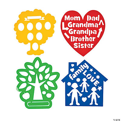 Family Tree Die Cut Stencils