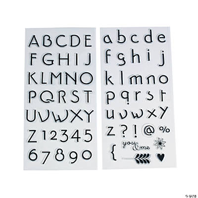 Fancy Script Alphabet Stamp Set