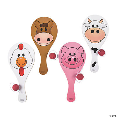 Farm Animal Paddleball Games