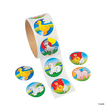 Farm Animal Roll of Stickers