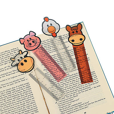 Farm Animal Ruler Bookmarks