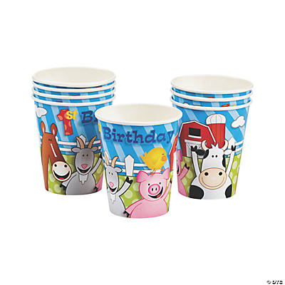 Farm 1st Birthday Cups