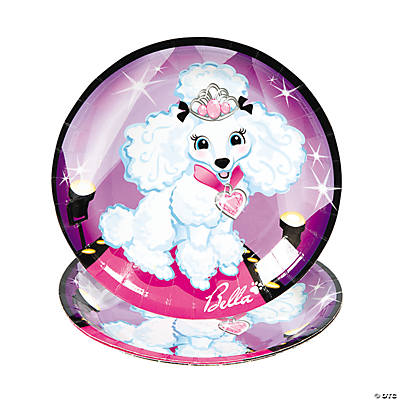 Fashion Puppy Dessert Plates