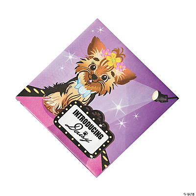 Fashion Puppy Luncheon Napkins