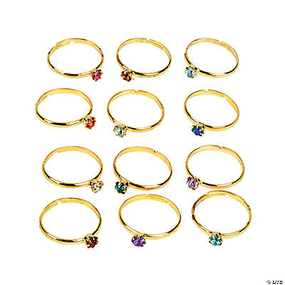 Faux Birthstone Rings