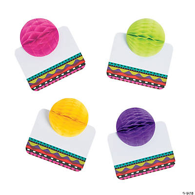 Fiesta Tissue Ball Place Cards