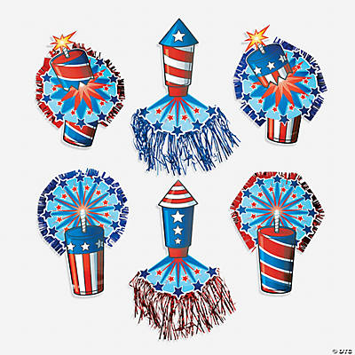 Firecracker Cutouts with Tassels