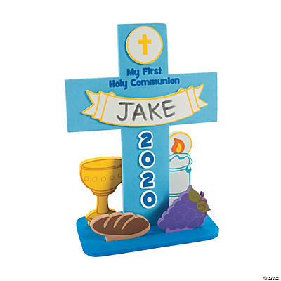 First communion stand up cross craft kit for First communion craft ideas