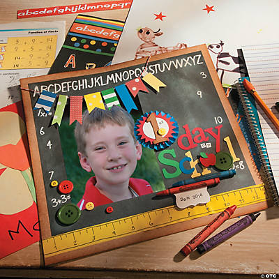 First Day of School Scrapbook Page Idea