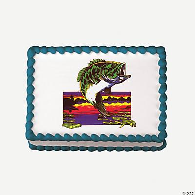 Fishing Edible Image  Cake Decoration - Oriental Trading ...