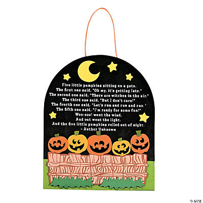 """Five Little Pumpkins"" Sign Craft Kit"