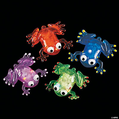 Flashing Squishy Frogs with Beads
