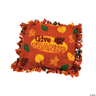 "Fleece ""Give Thanks"" Tied Pillow Craft Kit"