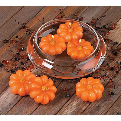 Floating Pumpkin Candles