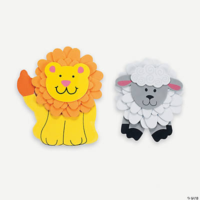 Flower Lion & Lamb Magnet Craft Kit