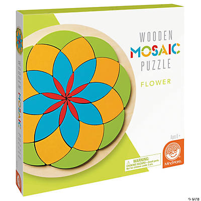 Flower Mosaic Wood Puzzle