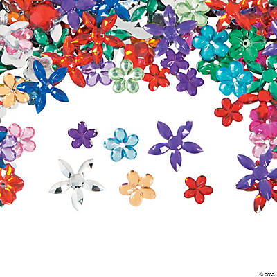 Flower-Shaped Faceted Gem Assortment