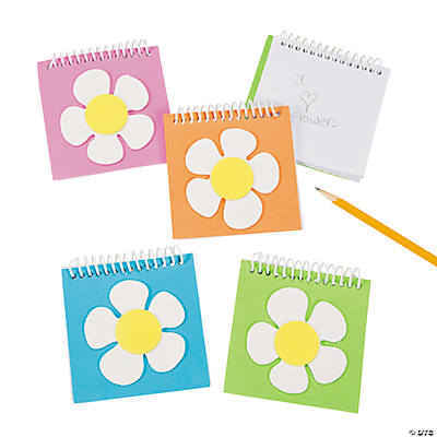 Flower Spiral Notepads