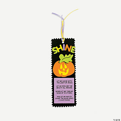 Foam Christian Pumpkin Bookmark Craft Kit