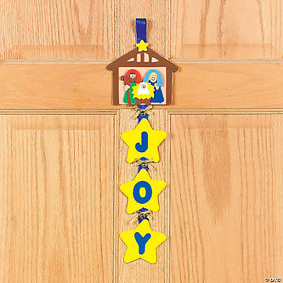 """Foam Nativity ""Joy"" Door Hanger Craft Kit"