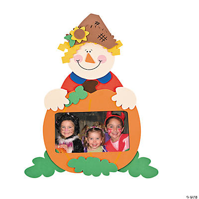 Foam Scarecrow Picture Frame Magnet Craft Kit