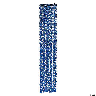 Football Beaded Necklaces - Blue