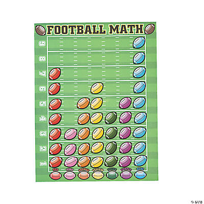12 Football Counting Stickers