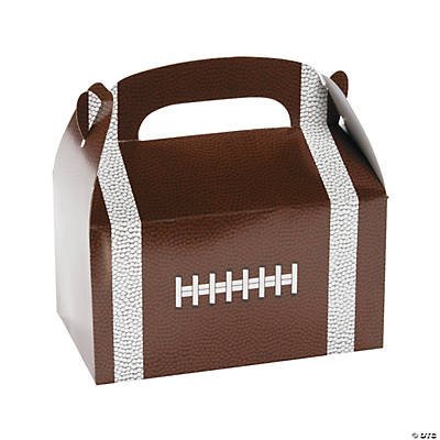 Football Favor Boxes with Handle
