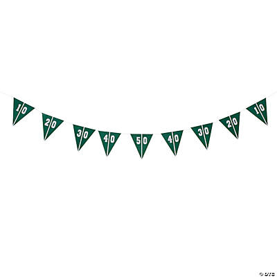 Football Party Pennant Banner