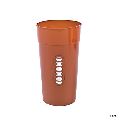 Football Plastic Tumblers