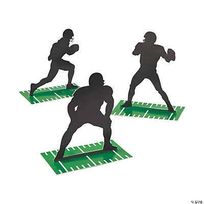 Football Silhouette Centerpieces