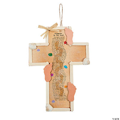 Footprints in the sand cross craft kit for Craft and hobby supplies
