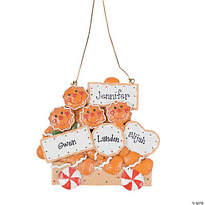 Four Gingerbread Men Christmas Ornament