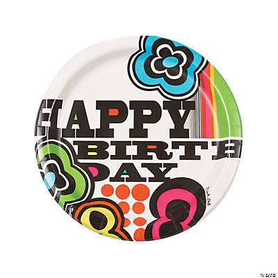 French Bull® Mod Birthday Paper Dinner Plates